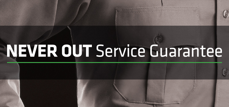 Never Out Service Guarantee